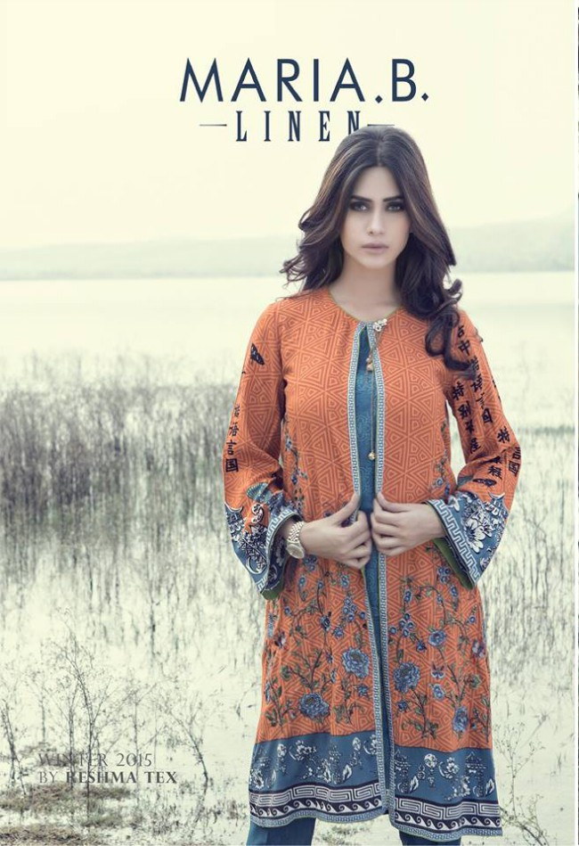 Maria.B Latest Fashion Dress Designer New Winter Wear Suits-2