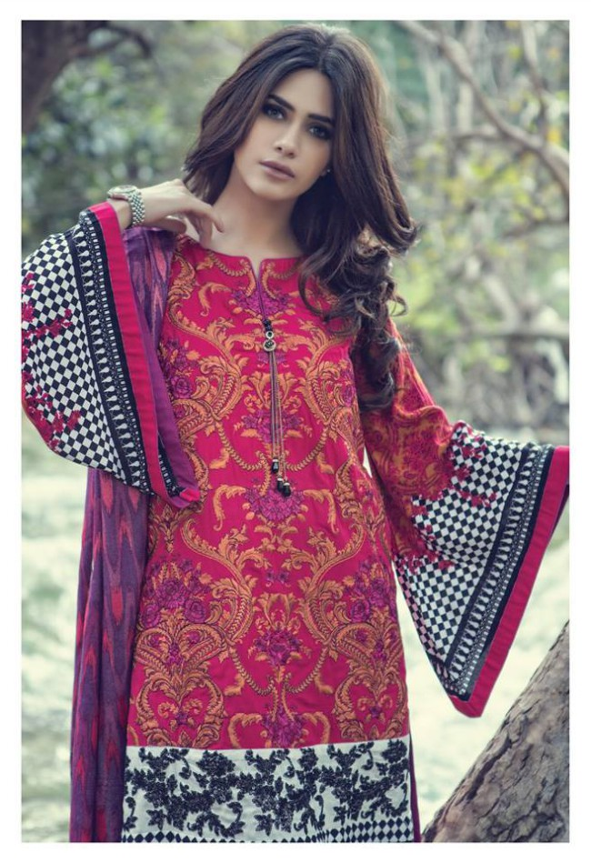 Maria.B Latest Fashion Dress Designer New Winter Wear Suits-6