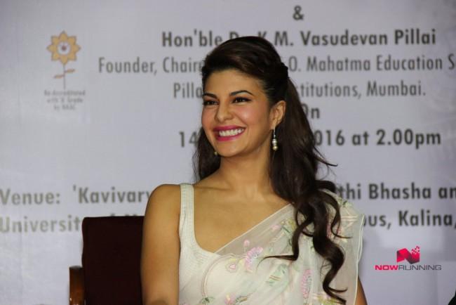 Jacqueline Fernandez Indian-Bollywood Actress-Model Fernandez Felicitated By Mumbai University Photos-