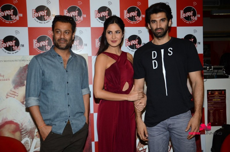 Katrina Kaif,Aditya and Abhishek Kapoor Promote Fitoor on Radio HD-HQ Wallpapers-