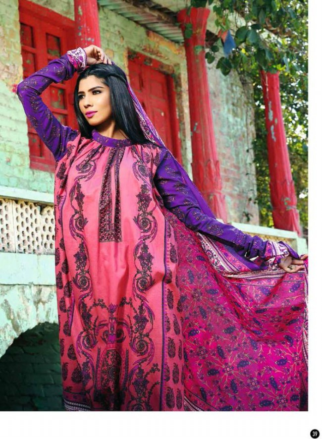 Rabea Lawn Print Girls-Women Winter Wear Dress Collection by Shariq Textiles-2
