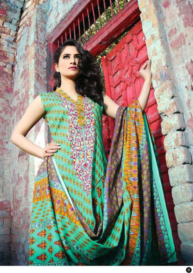 Rabea Lawn Print Girls-Women Winter Wear Dress Collection by Shariq Textiles-3