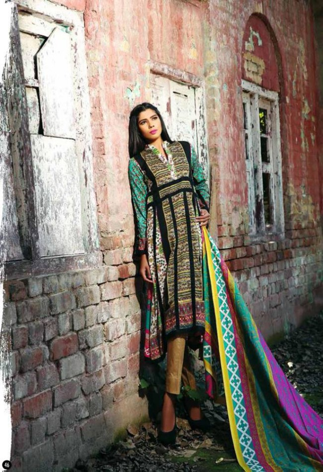 Rabea Lawn Print Girls-Women Winter Wear Dress Collection by Shariq Textiles-5