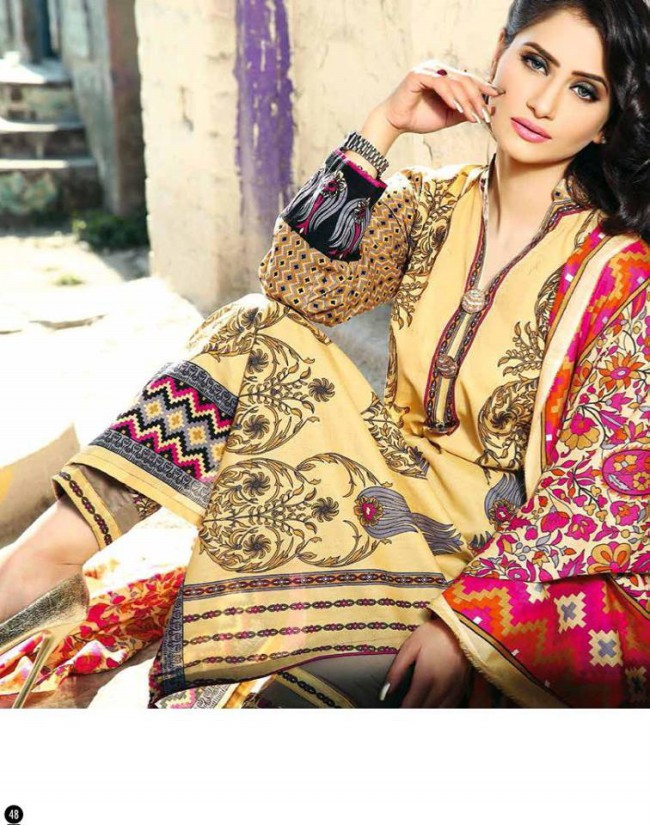 Rabea Lawn Print Girls-Women Winter Wear Dress Collection by Shariq Textiles-