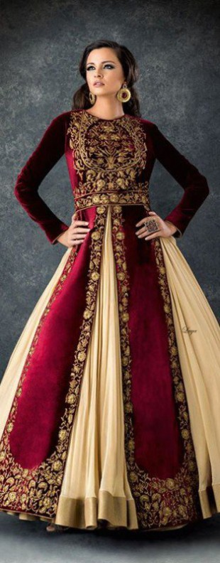 Bridal-Wedding Wear Velvet Fancy Suits Latest Fashionable Dresses Trend for Brides-Dulhan-10