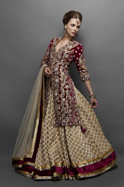 Bridal-Wedding Wear Velvet Fancy Suits Latest Fashionable Dresses Trend for Brides-Dulhan-3