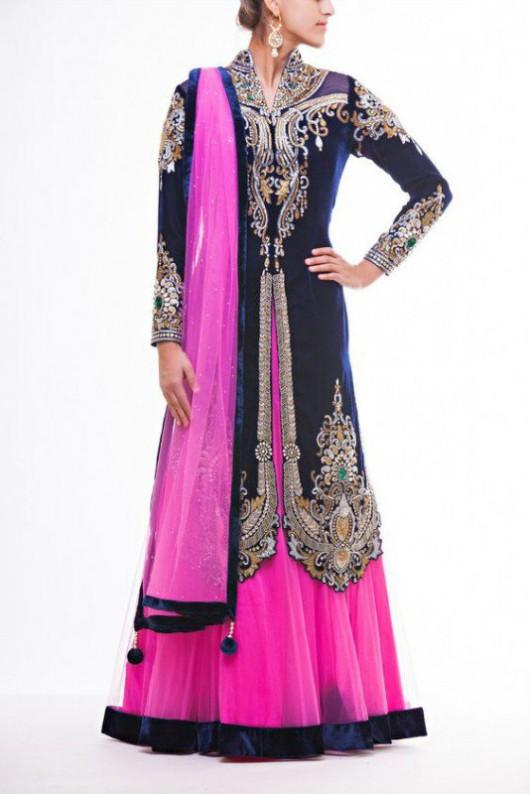 Bridal-Wedding Wear Velvet Fancy Suits Latest Fashionable Dresses Trend for Brides-Dulhan-7