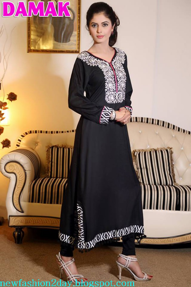 Damak Latest Winter-Fall Stylish Embroidered Wear Dress for Teenage Girls-Women-3