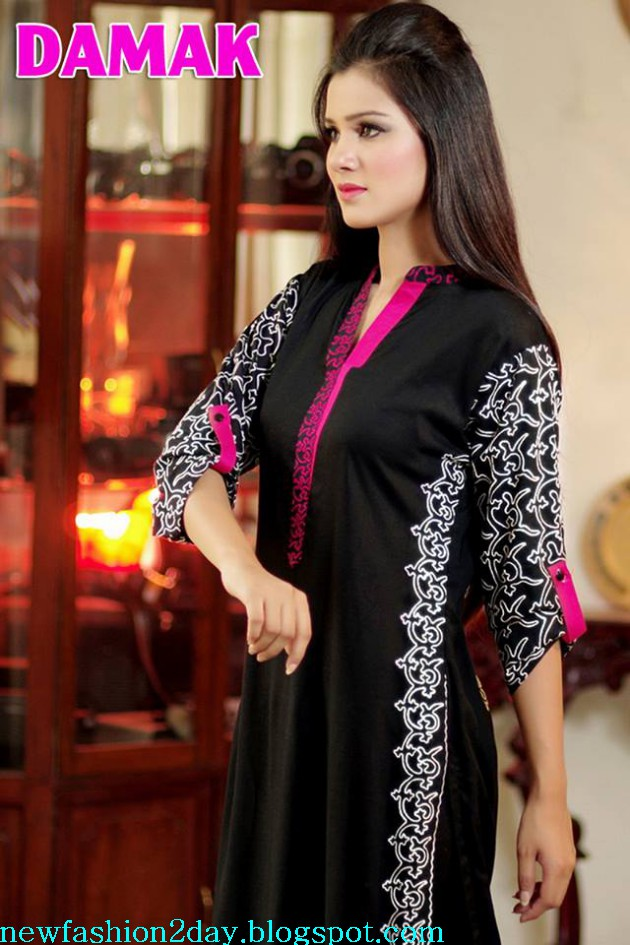 Damak Latest Winter-Fall Stylish Embroidered Wear Dress for Teenage Girls-Women-7