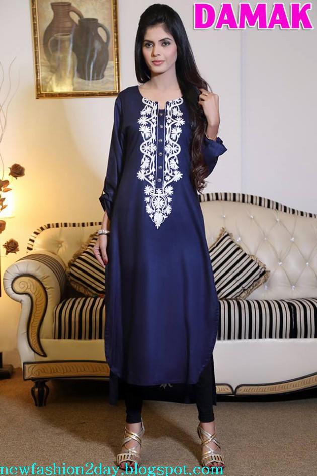 Damak Latest Winter-Fall Stylish Embroidered Wear Dress for Teenage Girls-Women-8