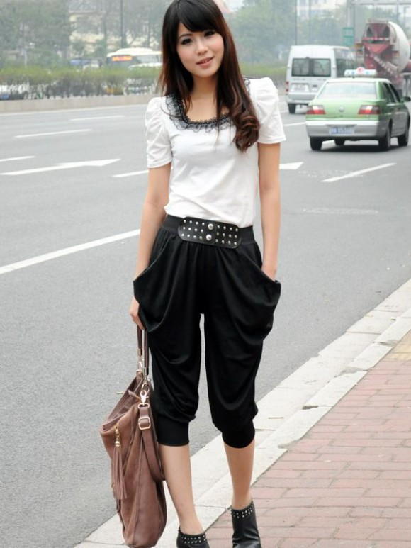 Girls-Women Wear Three Quarter Pants Shorts-T Shirts Fashion Latest Trend-10