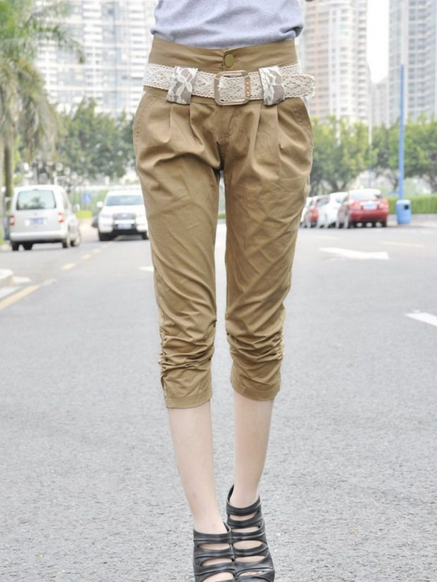 Girls-Women Wear Three Quarter Pants Shorts-T Shirts Fashion Latest Trend-7