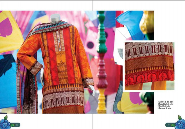 Junaid Jamshed Winter Wear Latest Colorful-Printed Dress Design Collection-2