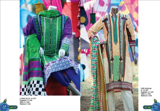Junaid Jamshed Winter Wear Latest Colorful-Printed Dress Design Collection-3