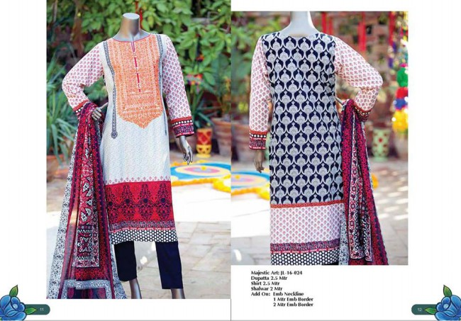 Junaid Jamshed Winter Wear Latest Colorful-Printed Dress Design Collection-4