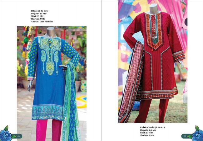 Junaid Jamshed Winter Wear Latest Colorful-Printed Dress Design Collection-5