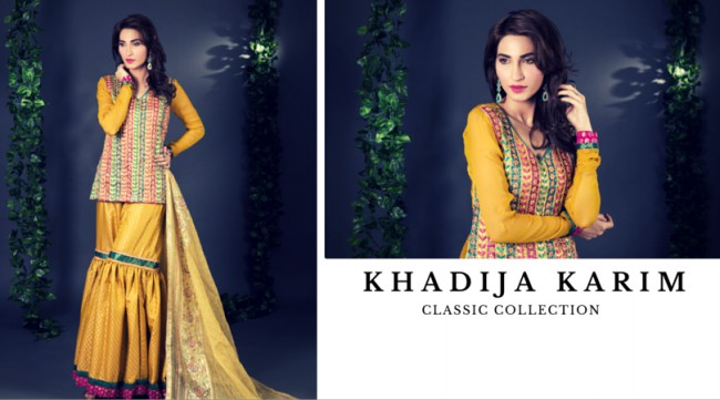 Latest Classic Wedding-Bridal Wear Dress by New Fashion Designer Khadija Karim-